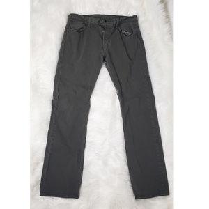 Levi's 501 Original Fit Men's Dark Olive Jeans 32